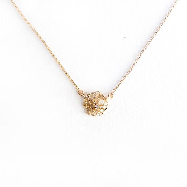 14K Sea Foam Necklace w/ Diamond
