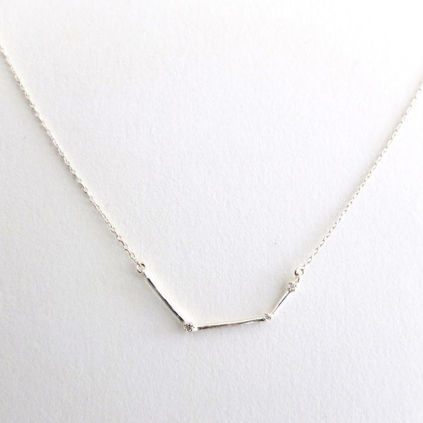 Sterling Constellation Necklace w/ Diamonds
