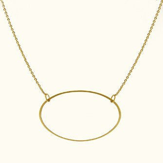 14k Solo Ellipse Necklace