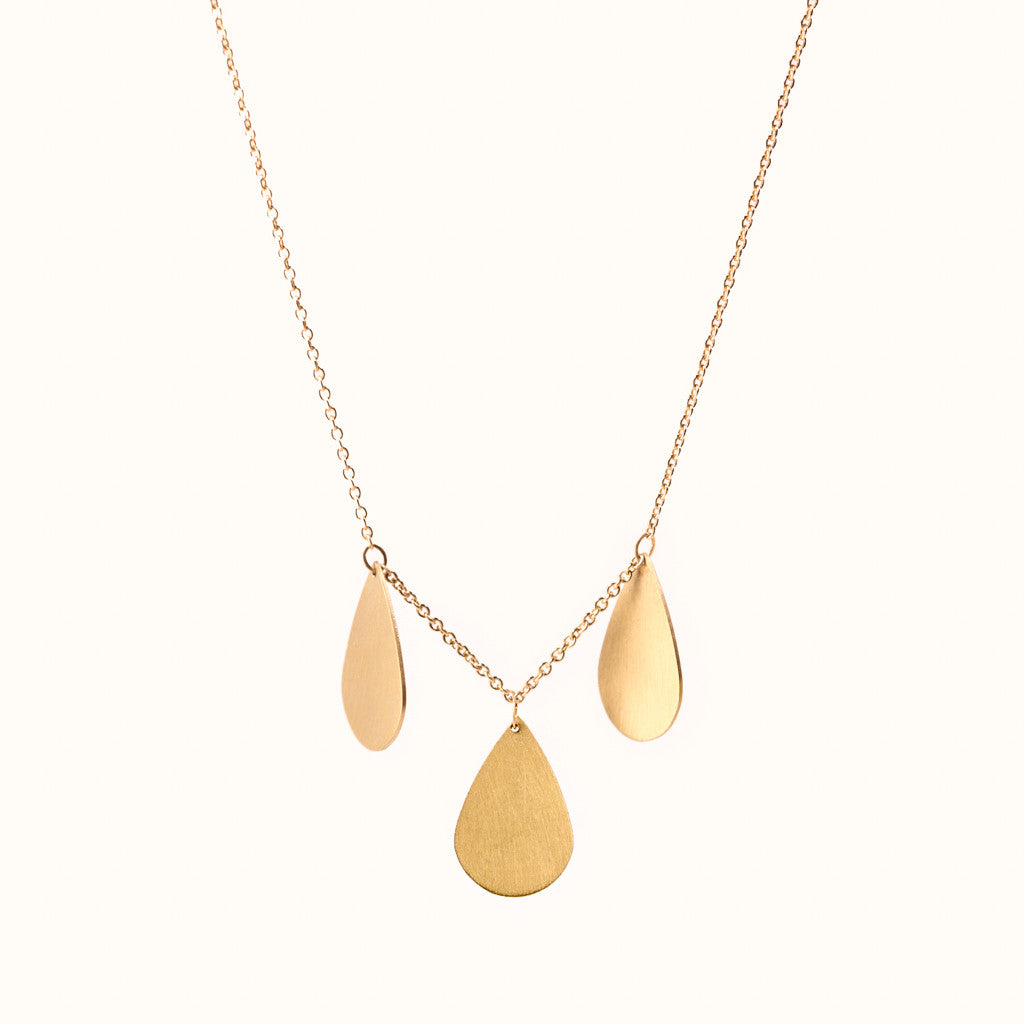 Teardrop Cluster Necklace