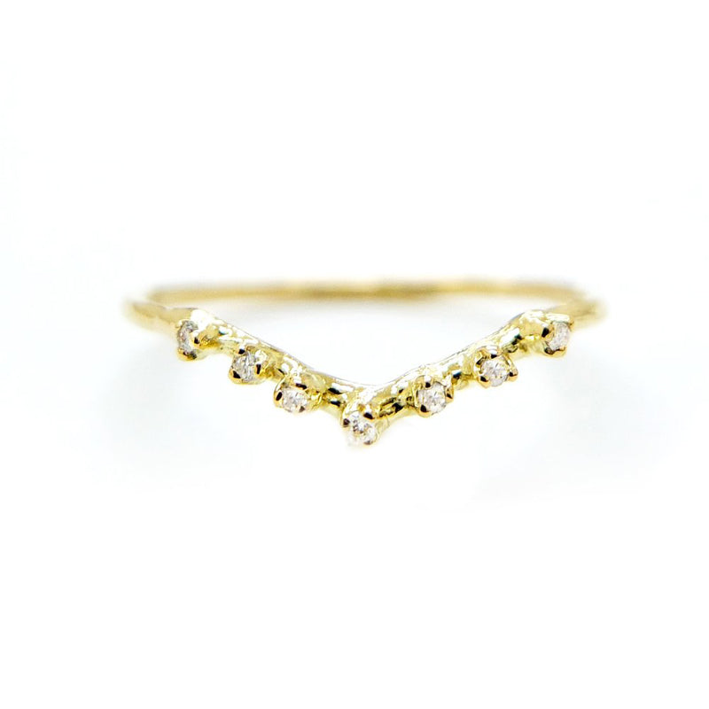 V Shaped Diamond Ring