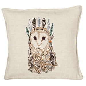 Owl Portrait Pillow - KESTREL