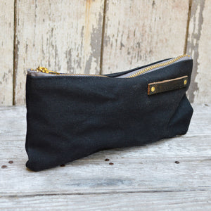 Waxed Canvas Pouch Coal