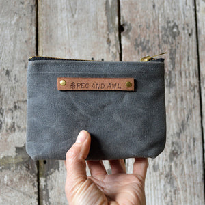 Slate Canvas Pouch