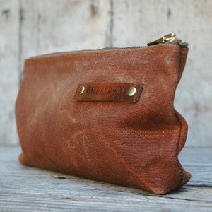 Waxed Canvas Pouch Spice