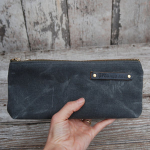 Waxed Canvas Pouch Slate