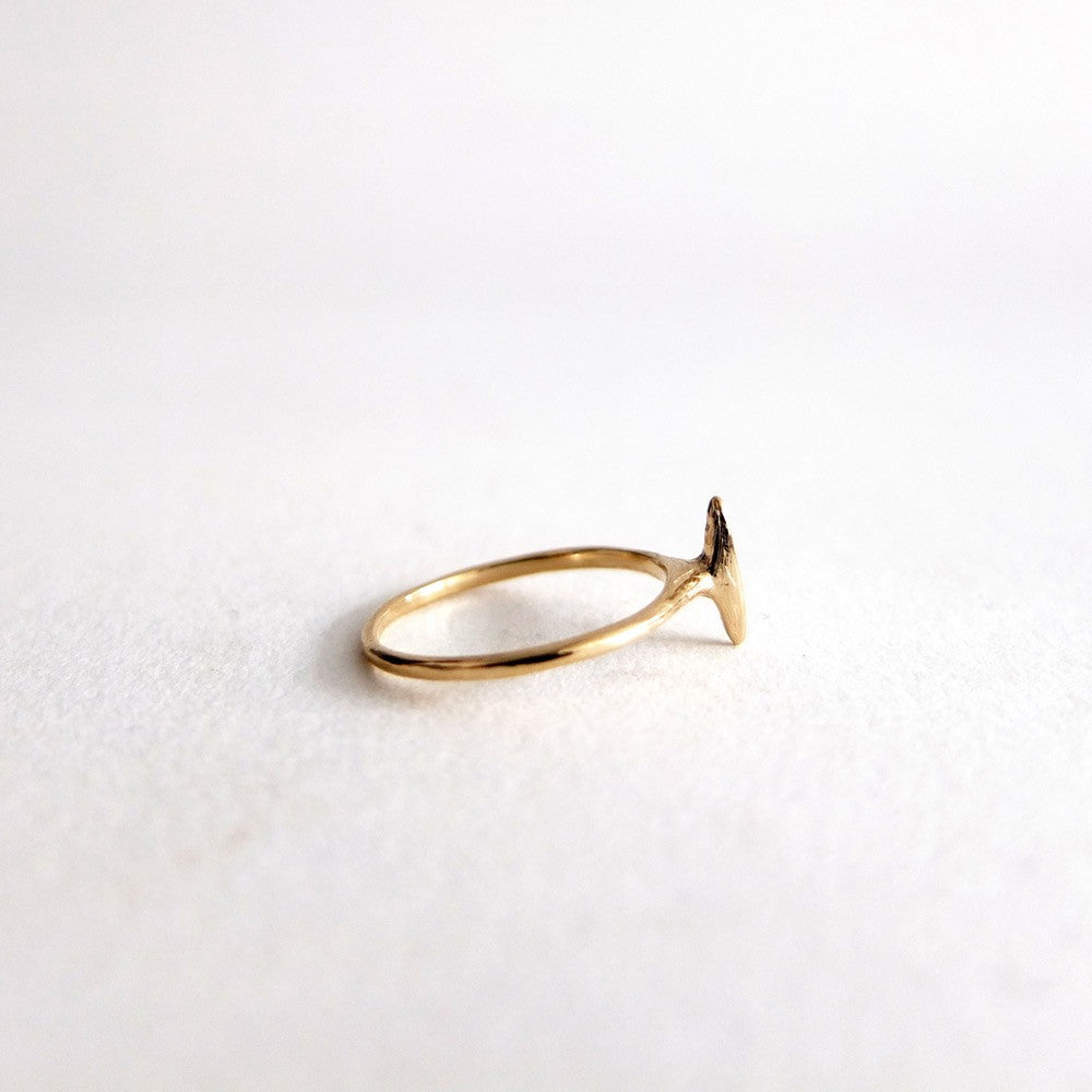 14K Marquis Bar Diamond Ring - KESTREL