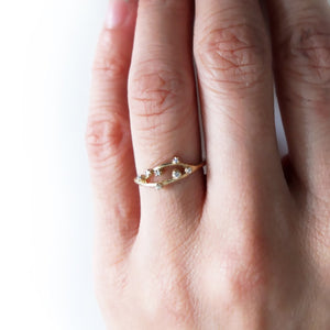 14K Diamond Open Cluster Ring - KESTREL