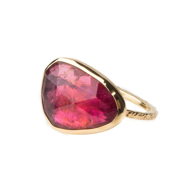 Pink Tourmaline Ring 14k Gold