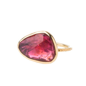 14K Pink Tourmaline Ring - KESTREL