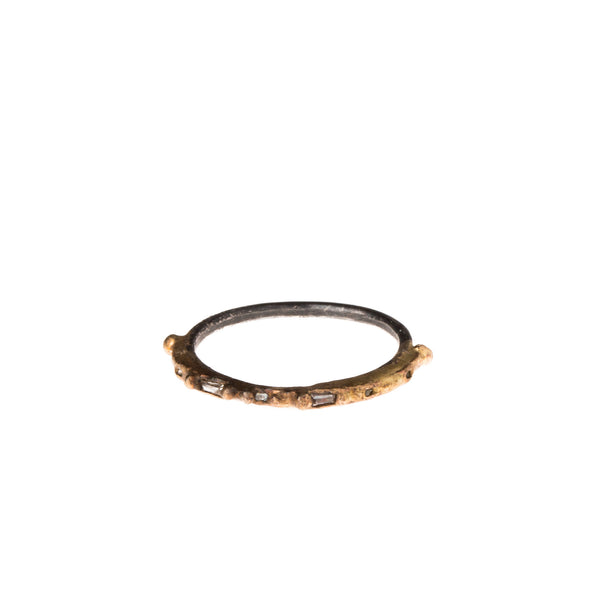 14-24K Baguette Diamond Sprinkle Band