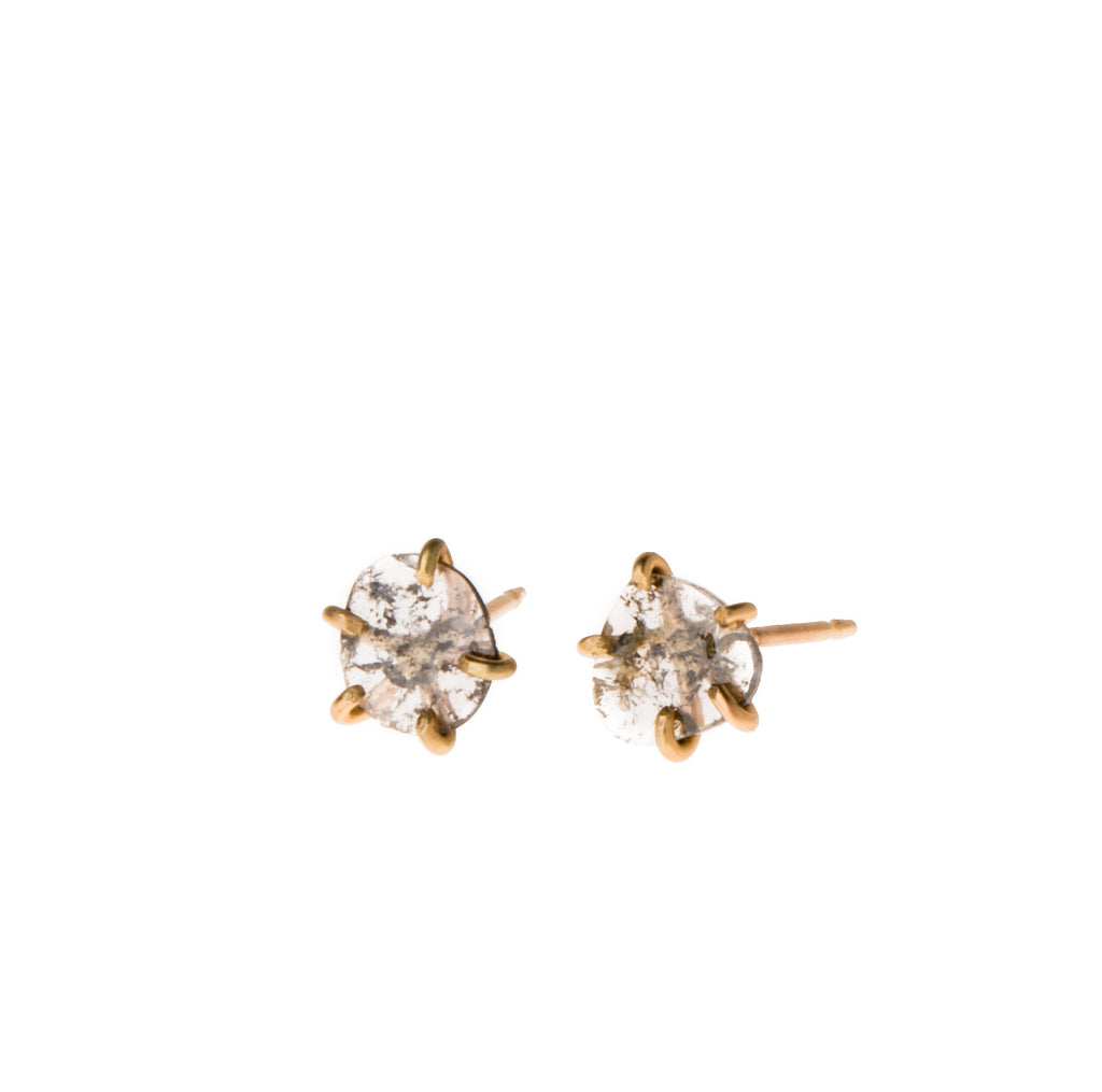 14k Polki Diamond Prong Studs