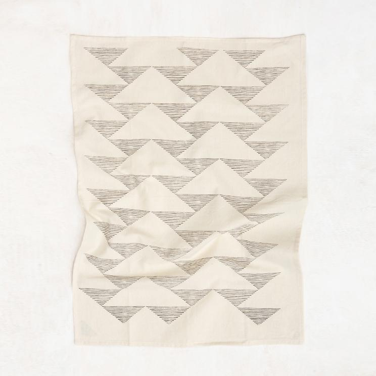 Triangles Kitchen Towel (Natural)