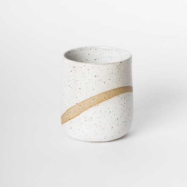 white speckle ceramic tumbler handmade