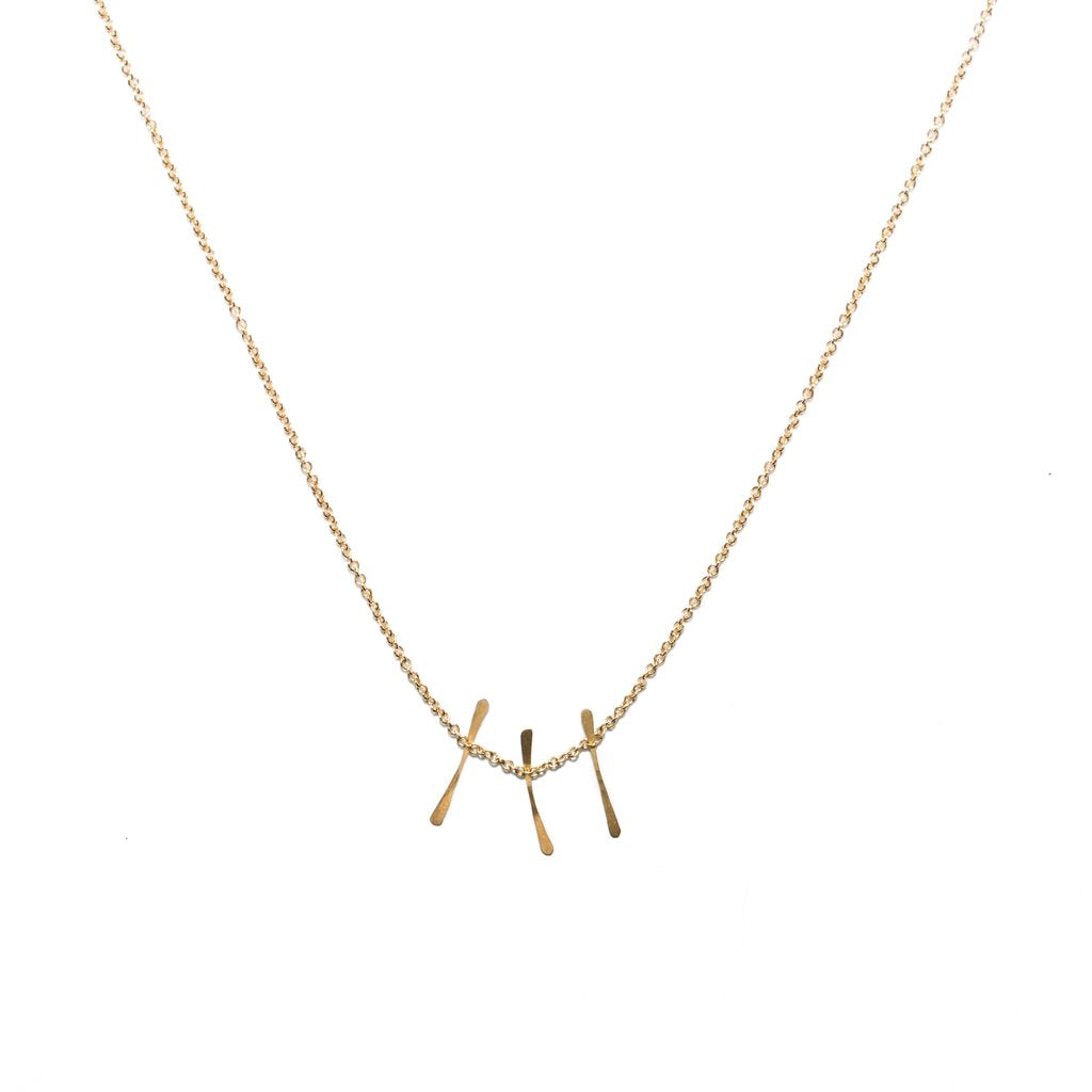 14k Micro Fringe Necklace