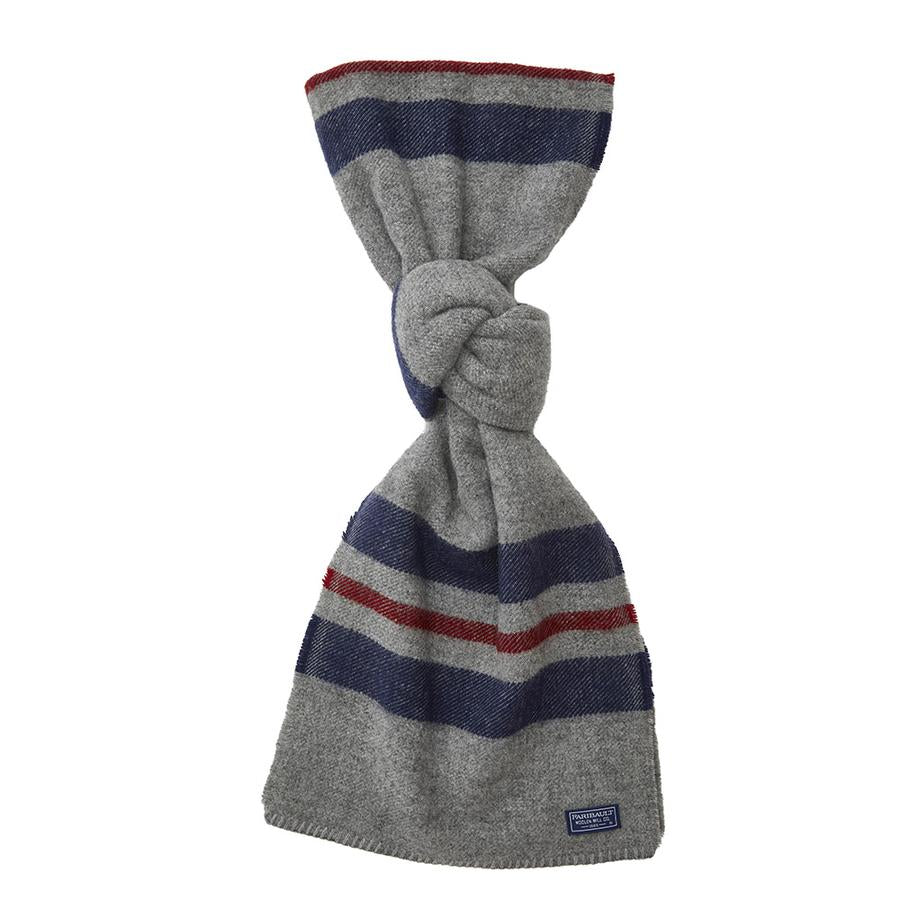 Cabin Scarf- Navy Red stripe - KESTREL