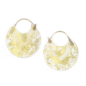 Gold Leaf Encasement Earrings - KESTREL