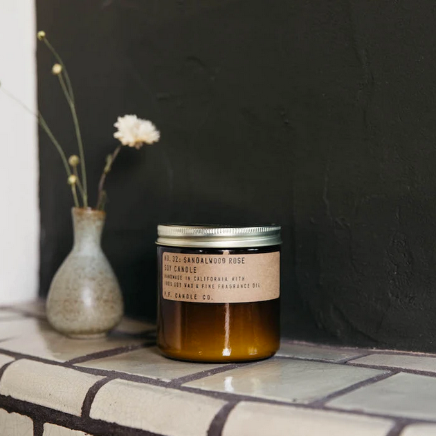 Sandalwood Rose Soy Candle - KESTREL