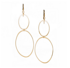 Long Double Ellipse Earrings