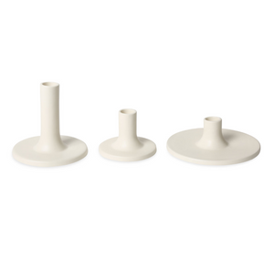 Ceramic Taper Holder White