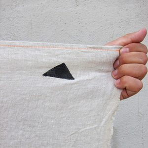 Hannah Throw - Black Triangles on Natural - KESTREL