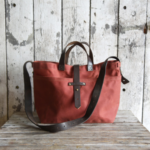Rust Waxed Canvas Tote