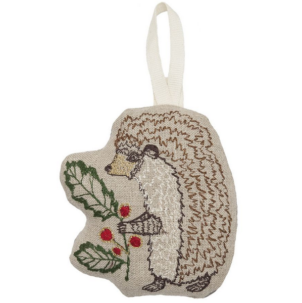 Holly Hedgehog Ornament