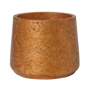 Weathered Metallic Copper Planter