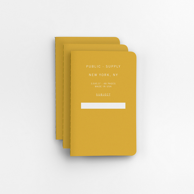 Softcover Dot Notebook Set of 3 Yellow
