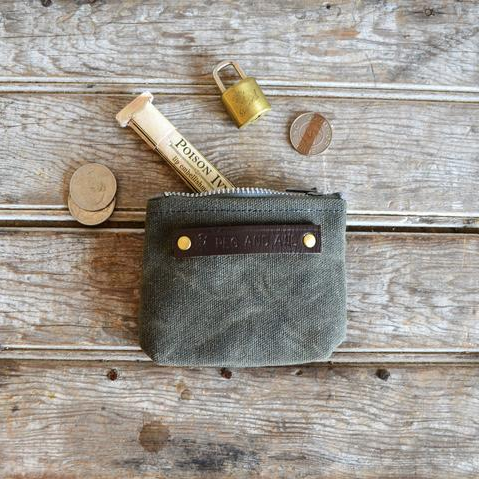 Peewee Waxed Canvas Pouch Moss