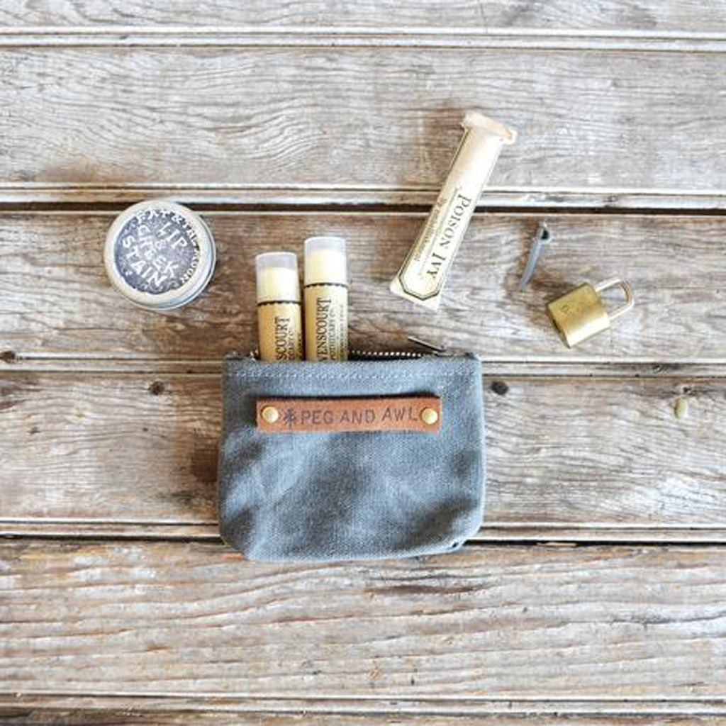 Peewee Waxed Canvas Pouch Slate