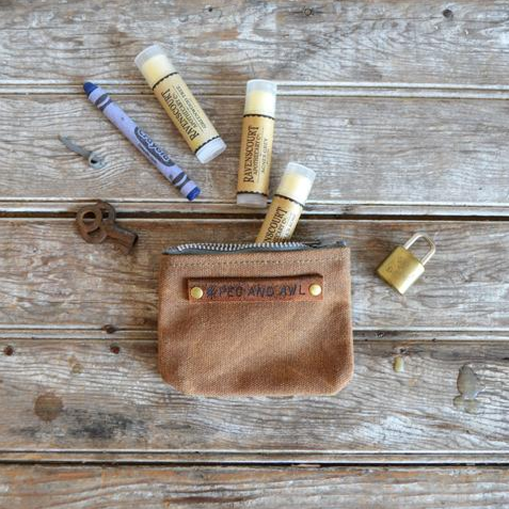 Peewee Waxed Canvas Pouch Spice