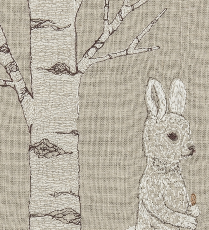 Snowshoe Hare Tea Towel