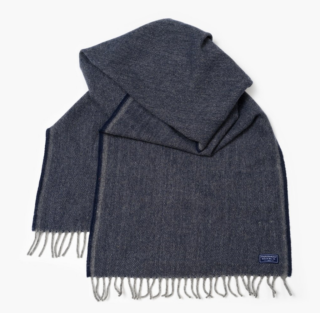 Ashby Twill Wool Scarf (Ink)