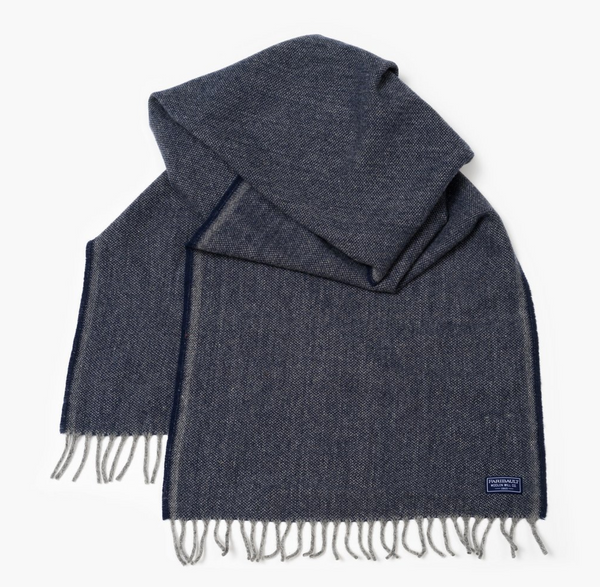 Ashby Twill Wool Scarf (Ink) - KESTREL