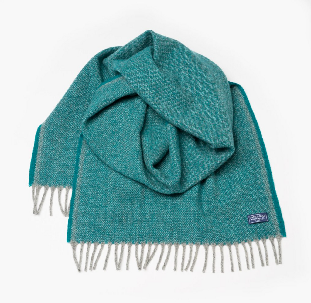 Ashby Twill Wool Scarf (Spruce) - KESTREL