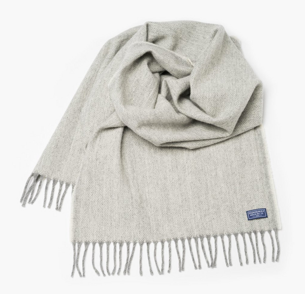 Ashby Twill Wool Scarf (Natural) - KESTREL