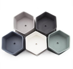 Hex Planter (Blue Grey) - KESTREL