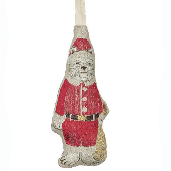 Polar Bear Santa Ornament