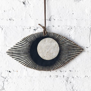 Large Eye Ornament - Black Crescent / Eclipse