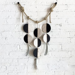 3 Strand Disc Hanging - Black + White - KESTREL