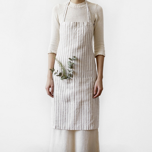 Linen Tales Daily Apron (Thin Stripes) - KESTREL