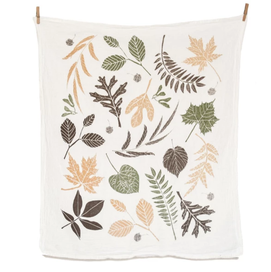 Leaf Pile Tea Towel - KESTREL