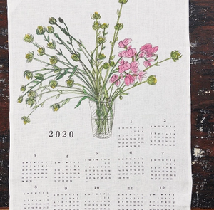 2020 Fabric Calendar - Flowers - KESTREL