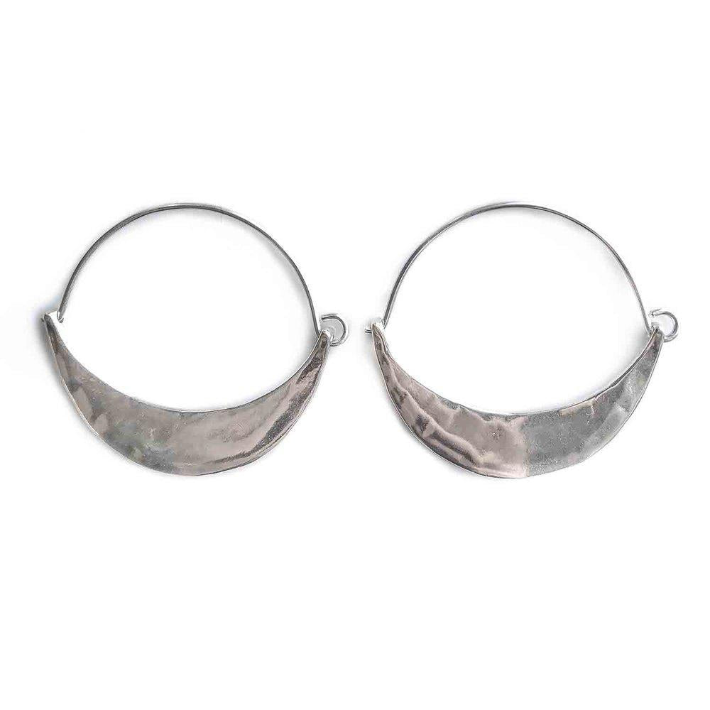 Sterling Summerland Crescent Hoops - KESTREL