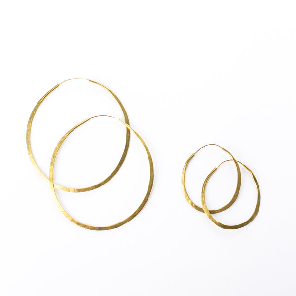 Brass Circle Hoops