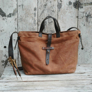 Waxed Canvas Tote (Spice)