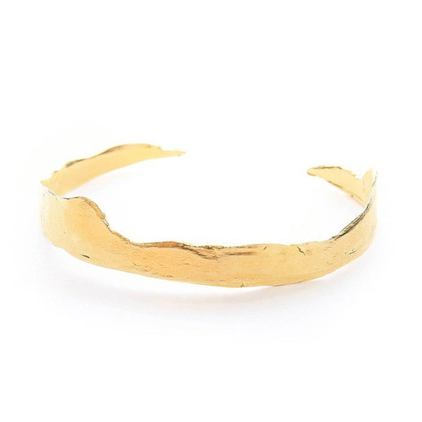 Gold Rough Edge Cuff Bracelet