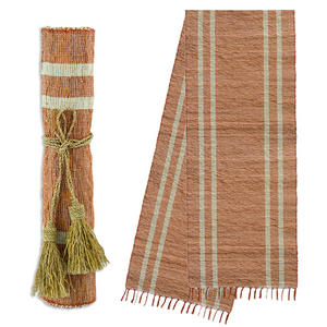 Vetiver Table Runner (Terracotta Stripe/Spice)