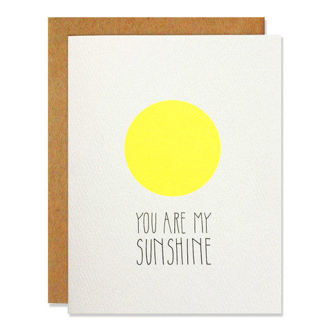 You Are My Sunshine Blank Card